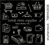 hand drawn doodle retail store...   Shutterstock .eps vector #788442838