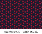 red hearts on black background. ...   Shutterstock .eps vector #788445256