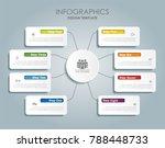 infographic template. vector...   Shutterstock .eps vector #788448733
