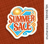 vector logo for summer season... | Shutterstock .eps vector #788448784