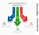 infographic template. vector... | Shutterstock .eps vector #788449240