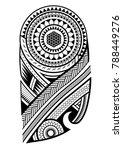 maori tattoo design for upper... | Shutterstock .eps vector #788449276