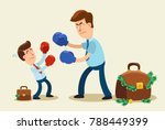 unfair competition. businessman ... | Shutterstock .eps vector #788449399