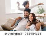 family lifestyle portrait of a... | Shutterstock . vector #788454196