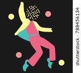 a man dance in unique... | Shutterstock .eps vector #788456134