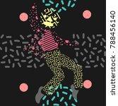 a man dance in unique... | Shutterstock .eps vector #788456140