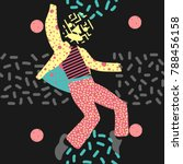 a man dance in unique... | Shutterstock .eps vector #788456158