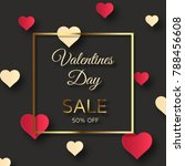 valentines day sale background  ... | Shutterstock .eps vector #788456608