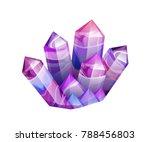 ultraviolet amethyst gemstones. ... | Shutterstock .eps vector #788456803