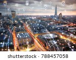 city of london at sunset.... | Shutterstock . vector #788457058