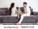 family spending time together... | Shutterstock . vector #788457220