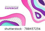 abstract geometrical papercut... | Shutterstock .eps vector #788457256