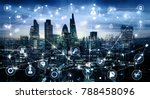 city of london at sunset with...   Shutterstock . vector #788458096