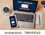 new message notification... | Shutterstock . vector #788459263