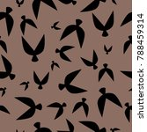 flock pattern. seamless pattern ... | Shutterstock .eps vector #788459314