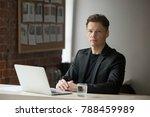 confident serious businessman... | Shutterstock . vector #788459989