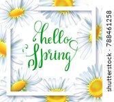 greeting card  floral... | Shutterstock .eps vector #788461258