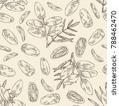 seamless pattern with date... | Shutterstock .eps vector #788462470