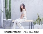 young asian beautiful and... | Shutterstock . vector #788463580