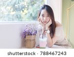lonely young asian beautiful... | Shutterstock . vector #788467243
