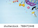 carnival background flat lay.... | Shutterstock .eps vector #788472448