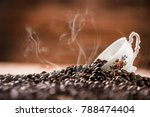 fresh roasted coffee beans.... | Shutterstock . vector #788474404
