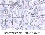 vector seamless pattern with... | Shutterstock .eps vector #788475604