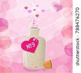 retro style love potion... | Shutterstock .eps vector #788476270