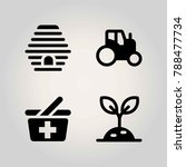 agriculture vector icon set.... | Shutterstock .eps vector #788477734