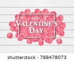 heap of pink rose petals on the ...   Shutterstock .eps vector #788478073