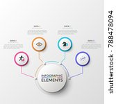 four white round elements with... | Shutterstock .eps vector #788478094