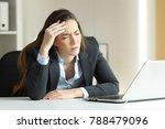ill businesswoman suffering... | Shutterstock . vector #788479096