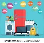 appliances. washing machine ... | Shutterstock .eps vector #788483230