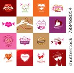 vector logo wedding | Shutterstock .eps vector #788488054