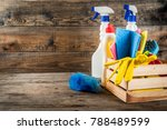 spring cleaning concept with... | Shutterstock . vector #788489599