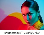 high fashion model woman face.... | Shutterstock . vector #788490760