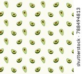 Avocado Seamless Pattern For...