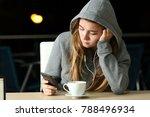 portrait of a sad teen... | Shutterstock . vector #788496934