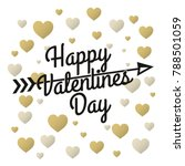valentines day vintage... | Shutterstock .eps vector #788501059