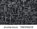 vector seamless pattern with... | Shutterstock .eps vector #788508658