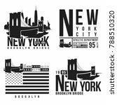 set of new york  brooklyn... | Shutterstock .eps vector #788510320