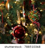 christmas tree holiday ornaments | Shutterstock . vector #788510368