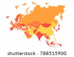 vector eurasia map with... | Shutterstock .eps vector #788515900