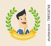employee of the year award....   Shutterstock .eps vector #788518768