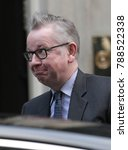 Small photo of LONDON - NOV 28, 2017: Secretary of State for Environment, Food and Rural Affairs Michael Gove attends the weekly cabinet meeting at 10 Downing street