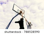 portrait of a two young sports...   Shutterstock . vector #788528590