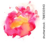 colorful abstract watercolor... | Shutterstock . vector #788533543