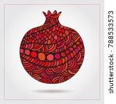hand drawn decorative... | Shutterstock .eps vector #788533573