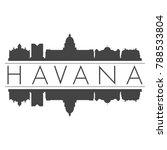 havana cuba america skyline... | Shutterstock .eps vector #788533804
