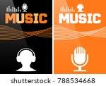 music banner or brochure cover... | Shutterstock .eps vector #788534668